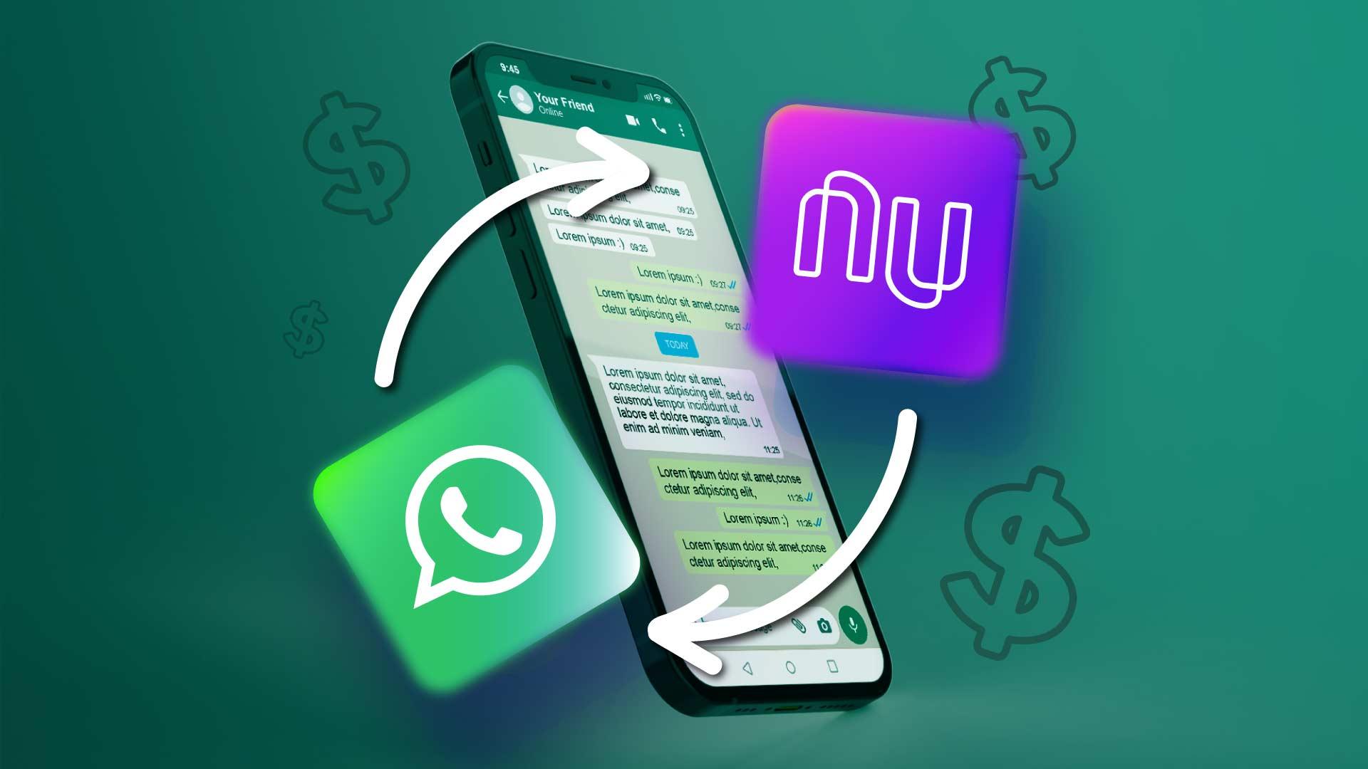 pagamentos no Whatsapp com Nubank