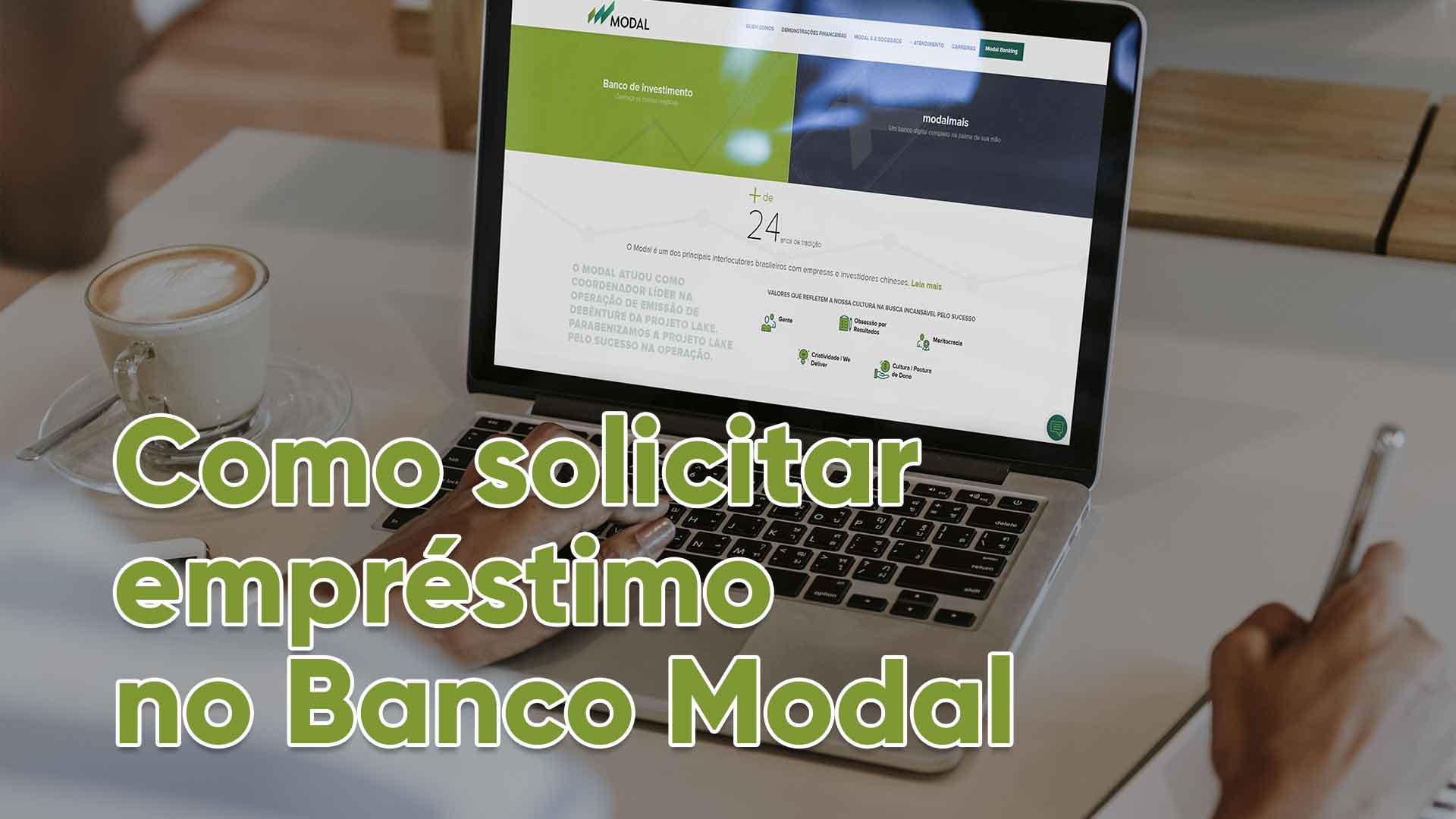 solicitar empréstimo banco Modal