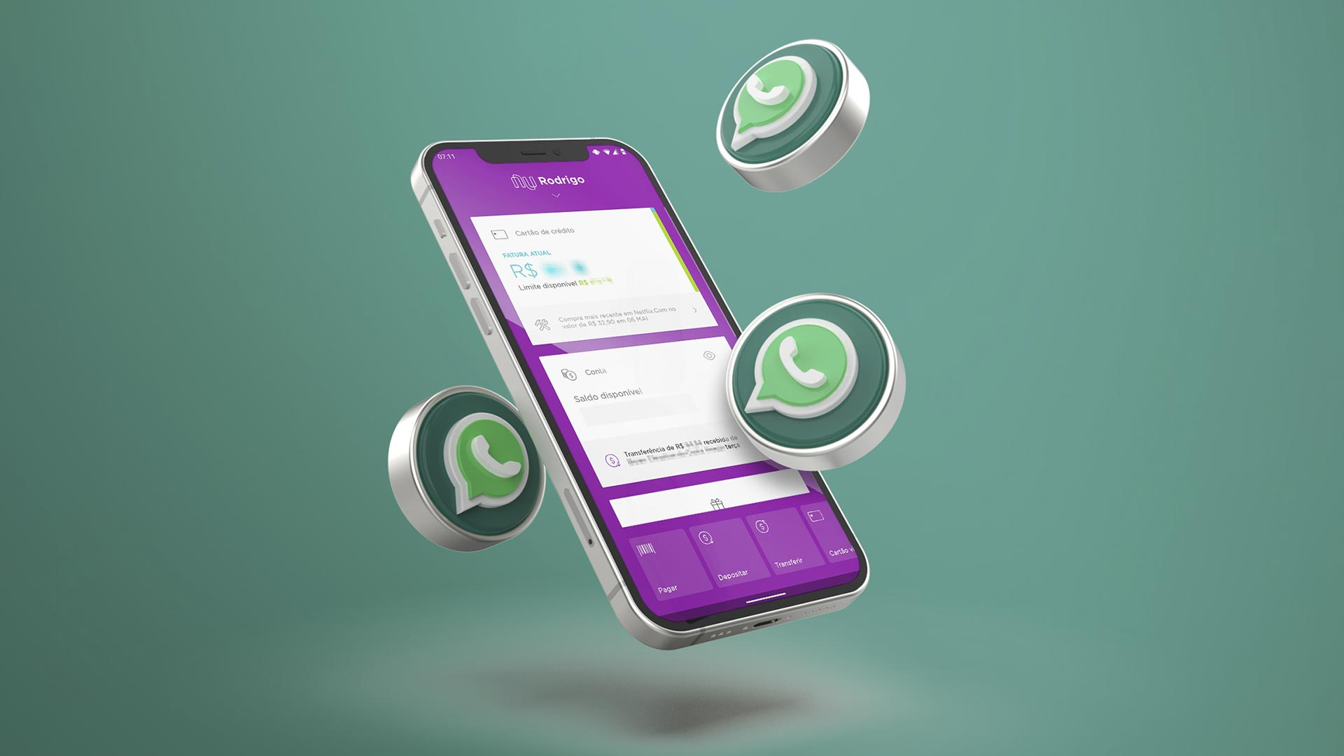 cartão pagamento WhatsApp